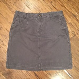 Old Navy chino grey skirt